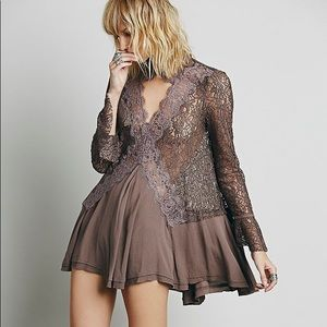 Secret Origins Lace Mini Dress